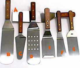 Grill Turners, Grill Scrapers, Cook's Spoons, Pie Servers