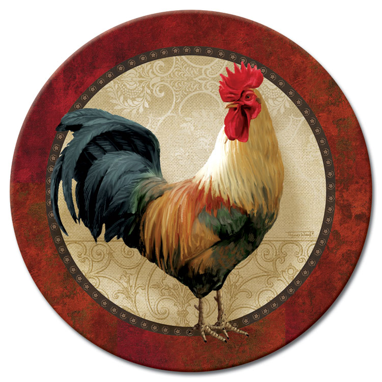 A Glass Rooster Lazysusan Farm Fresh