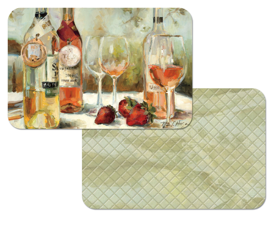 Grape Wine Award Reversible - 4 Vinyl-Plastic Placemats