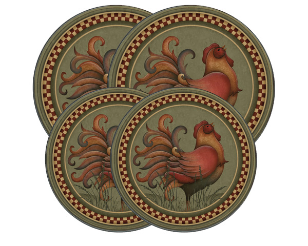 Garden Rooster Round Stove Burner Covers
