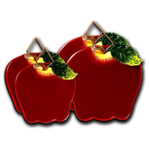 Big Red Apple Shaped Ceramic Burner Covers