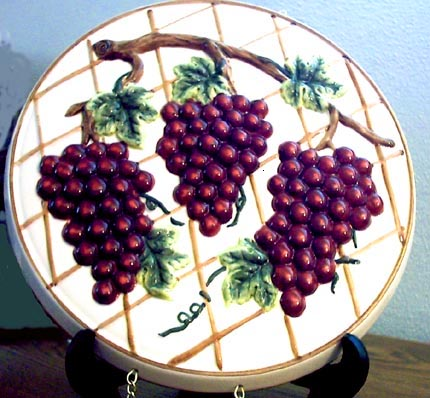 Grape Kitchen Decor Theme Ceramics Wine Grape Tuscan