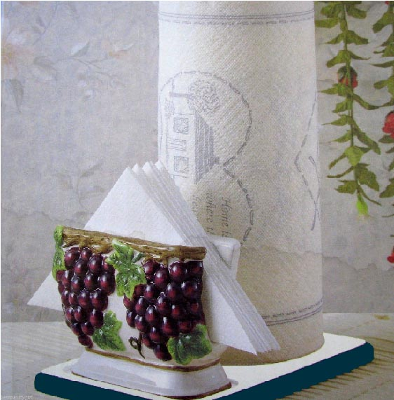 * A Grapevine Ceramic Paper Towel napkin Holder