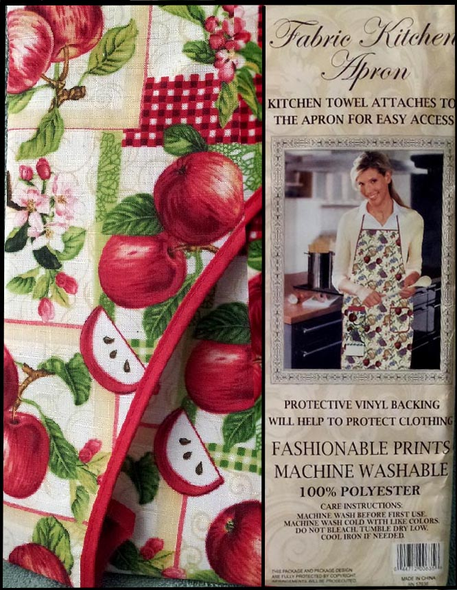 Apples Cotton Towel & Craft or Kitchen Apron