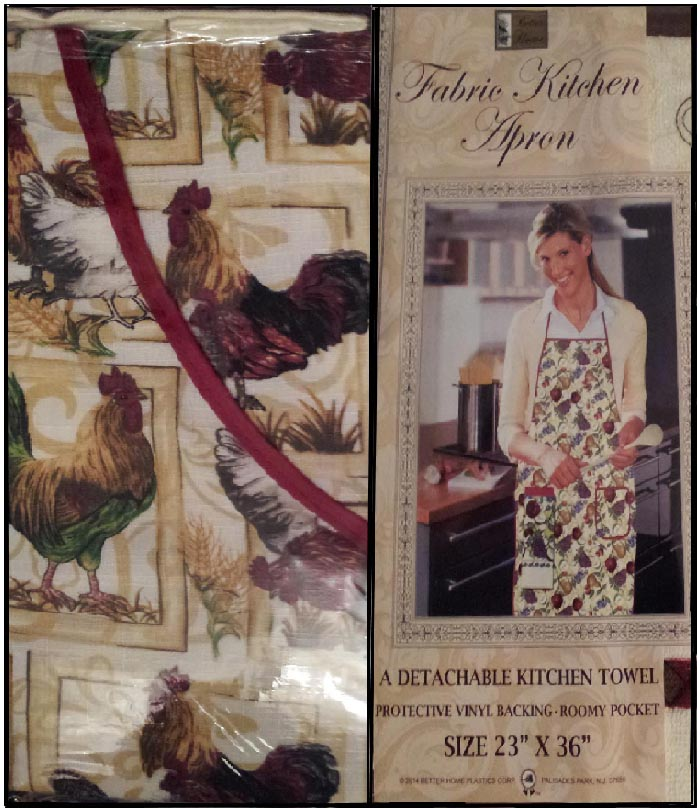 Rooster Themed Cotton Towel U0026 Craft Or Kitchen Apron