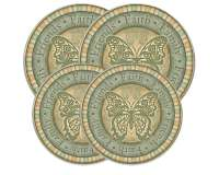 Butterfly Round Stove Burner Covers