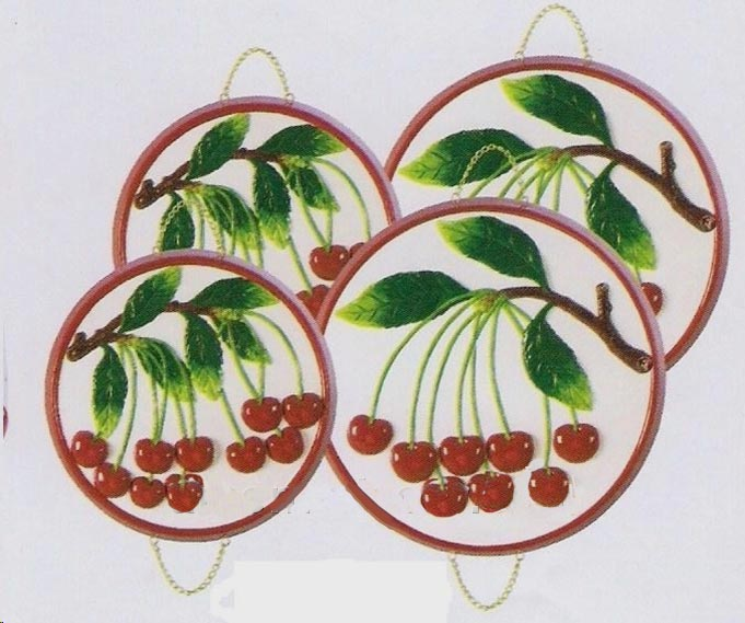 4 Ceramic Like Julies Cherries Stove Burner Covers