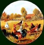 `Round Roosters Metal Farmhouse Burner Covers