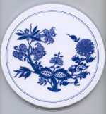 `Blue and White Flower - Floral Round Metal Burner Ccovers