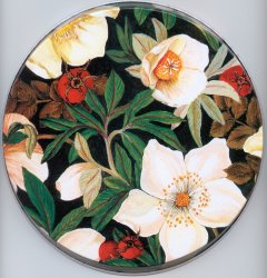 `Cherry Blossom - Floral Round  Metal Burner Covers
