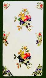 _ A Fruit on White Double Rectangle Metal Burner Covers