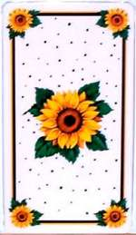 _   Metal Burner Covers  Double Rectangle Sunflowers