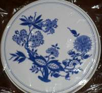 `Blue and White Flower - Floral Round  Metal Burner Covers