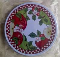 Country Apple Blossom Round Metal Burner Covers
