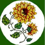 `One Country Sunflower- Round  Metal Burner Covers