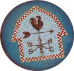 `WeatherVane Round Metal Farmhouse Burner Covers