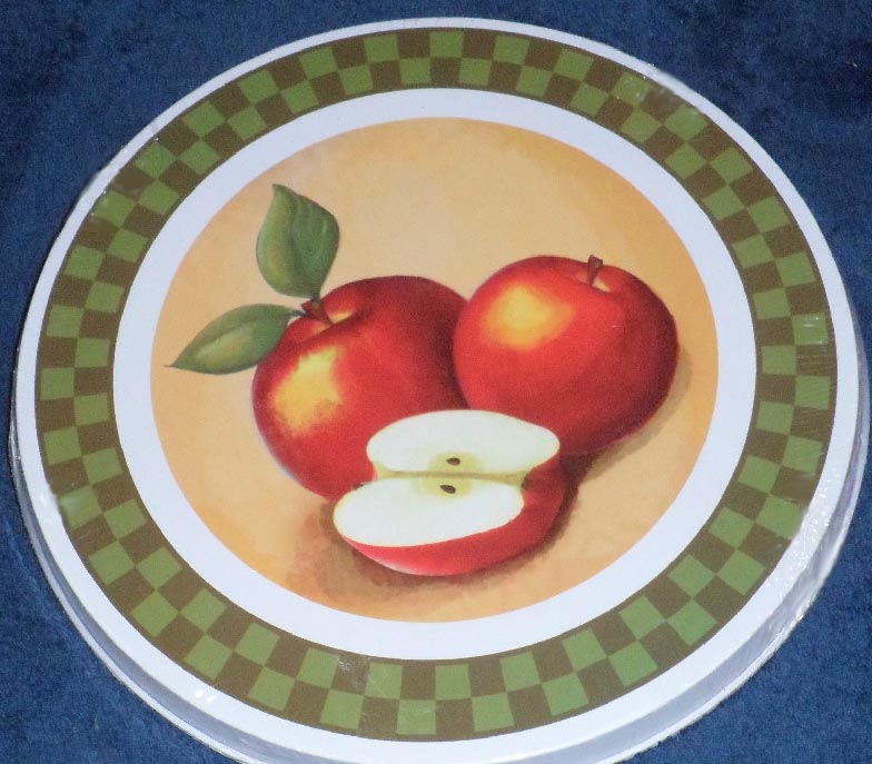 New Apple Country Round Metal Burner Covers