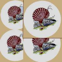 Coastal,Beach Seashell Round Burner Covers