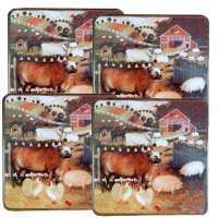 Barnyard Farm Decor Square Gas Stove Burner Covers