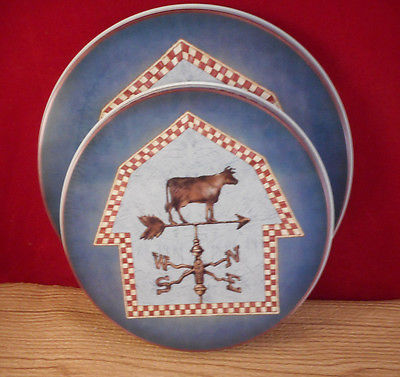 Farmhouse Weather Cow Metal Stove Burner Covers