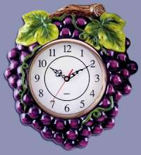 Grape Shape Ceramic Wallclock
