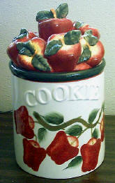 * Airtight Ceramic New Apple Cookie Jar
