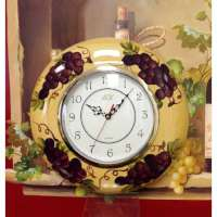A Grape Ceramic Tuscany Wall Clock