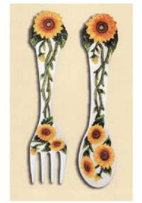 Ceramic Sunflower Wall Decor Plaques
