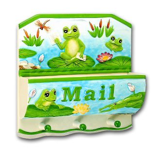 Frog Ceramic Mail Holder