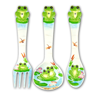 Frog 3 Jumbo Ceramic Wall Utensils