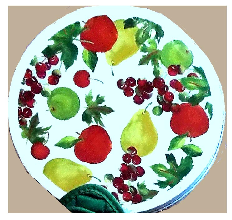 Fruit Decor Metal Burner Covers Round