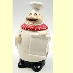 A Happy Chef Ceramic Cookie Jar/Menu Board