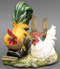7.5 inch Rooster & Hen
