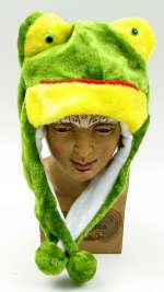 Kids Frog Plush Hat