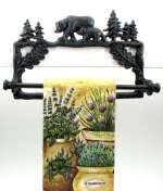 Bear Cast Iron Towel Holder