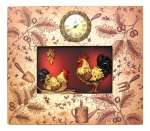 A Kitchen Wallclock Ornate Rooster Plaque