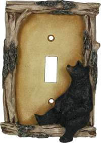 Cabin Lodge Bear Single Switch Plate Cover