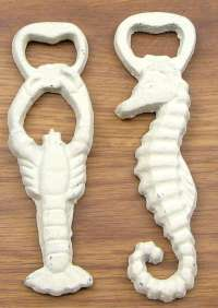 Seahorse and Lobster Bottle Openers Set of 2