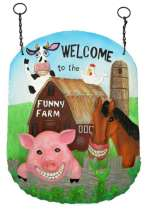Funny Farm Wall Bird Feeder