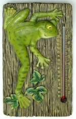 Froggits Thermometer Plaque