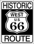 Tin Sign HISTORIC ROUTE 66