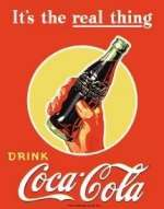 Tin Sign Coke Real Thing - Bottle
