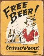 Tin Sign - Moore - Free Beer