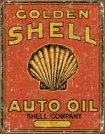Tin Sign Shell Oil