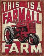 Tin Sign Farmall Farm