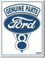 Tin Sign Ford V8