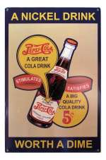 Tin Sign Pepsi Nickel Drink