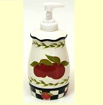 A Ceramic Apple Lotion Dispenser