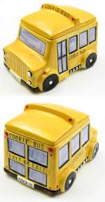 ~School Bus Cookie Jar