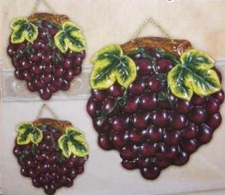 Tuscan Grape 4 Ceramic Burner Cover